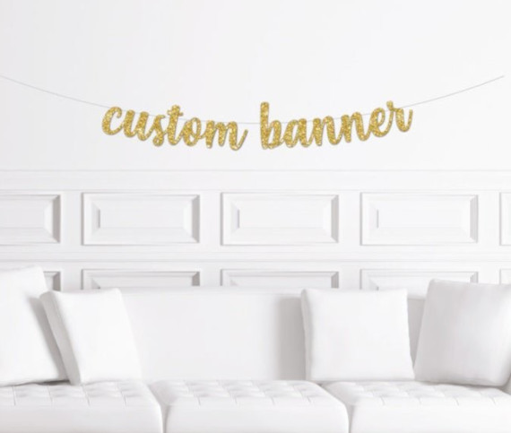 Custom Cake Toppers and Banners